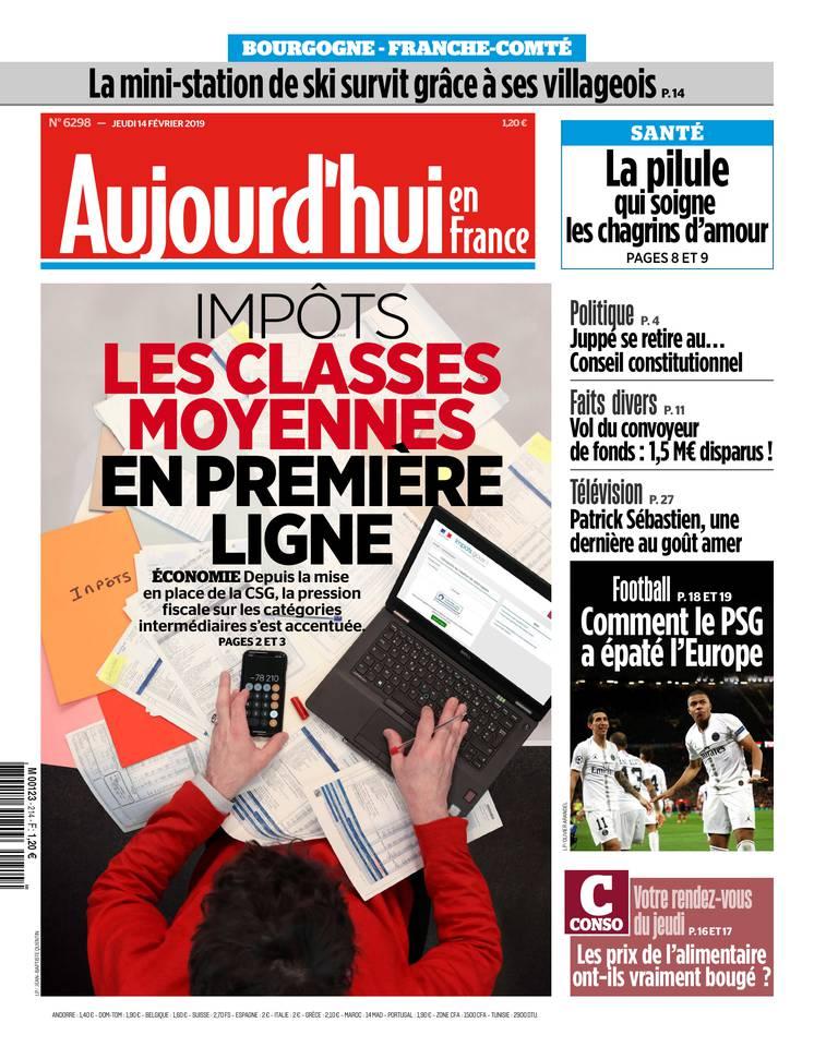 AUJOURDHUI EN FRANCE 14 fevrier 2019 cover