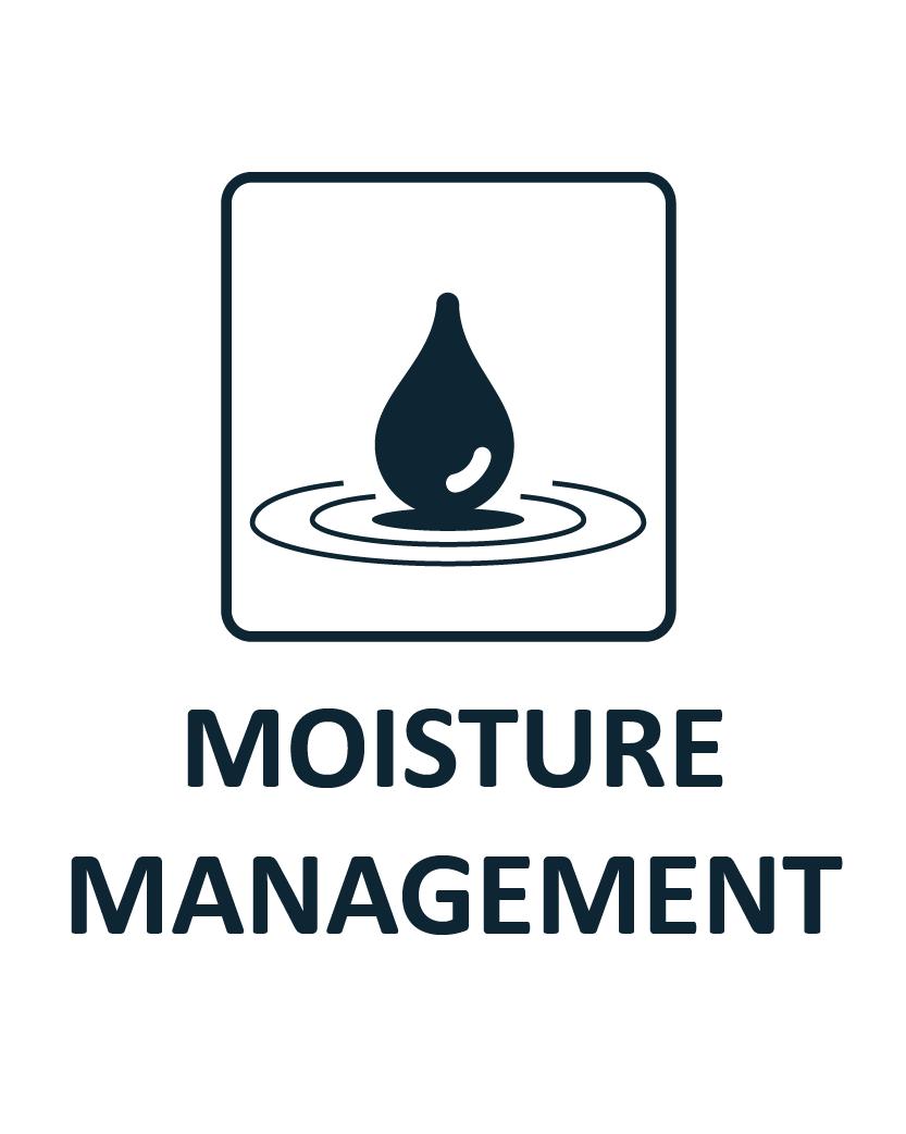 Moisture management coolin+
