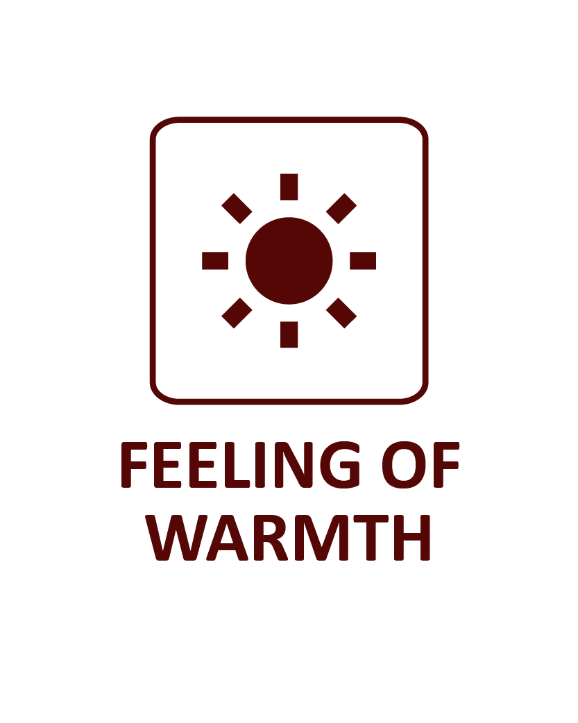 feeling of warmth