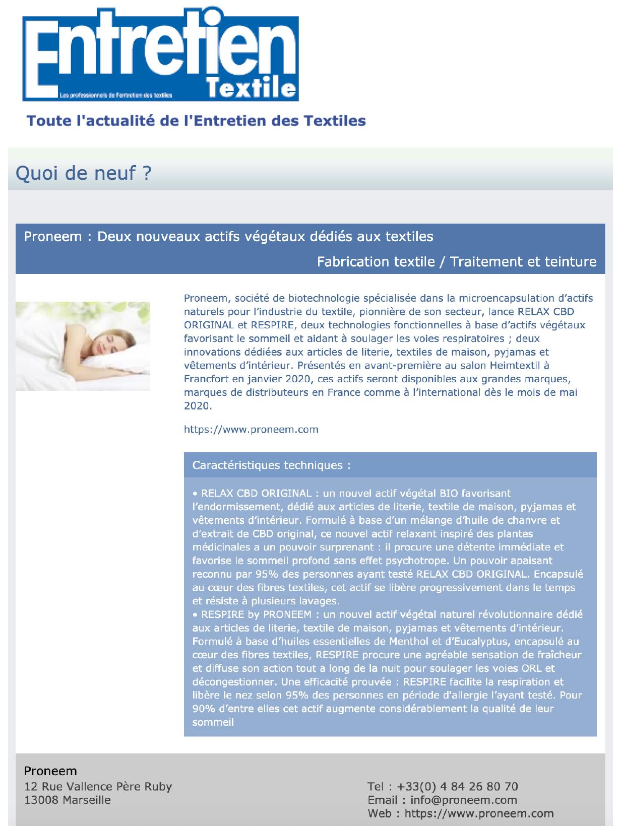 04-Avril Entretien textile